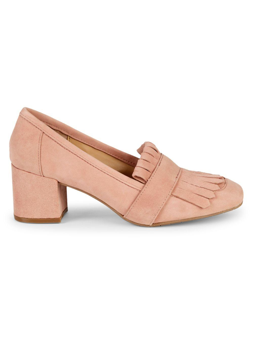 f7fe35ffd06 Lyst - Kenneth Cole Reaction Suede Leather Kiltie-top Loafers in Pink