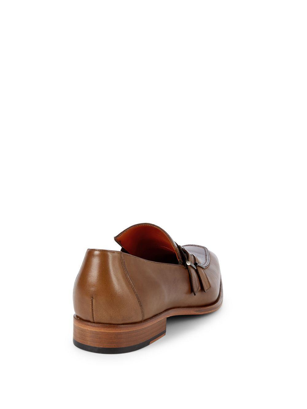 b9c81651759 Mezlan - Brown Leather Monk Strap Loafers for Men - Lyst. View fullscreen
