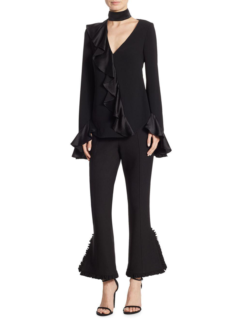 Cinq À Sept Woman Silk Satin-trimmed Crepe Blazer Black Size 4 Cinq à Sept Clearance Extremely Outlet Great Deals Recommend 100% Original Sale Online Un6A1cj8N