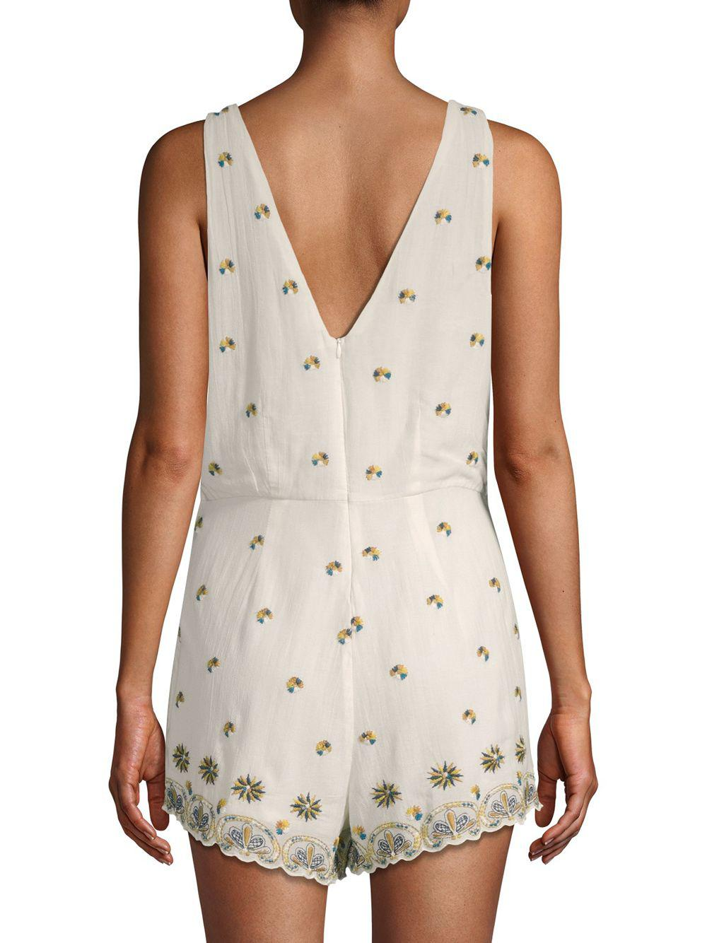 2ec776524a6 Free People - White Margarita Embroidered Romper - Lyst. View fullscreen