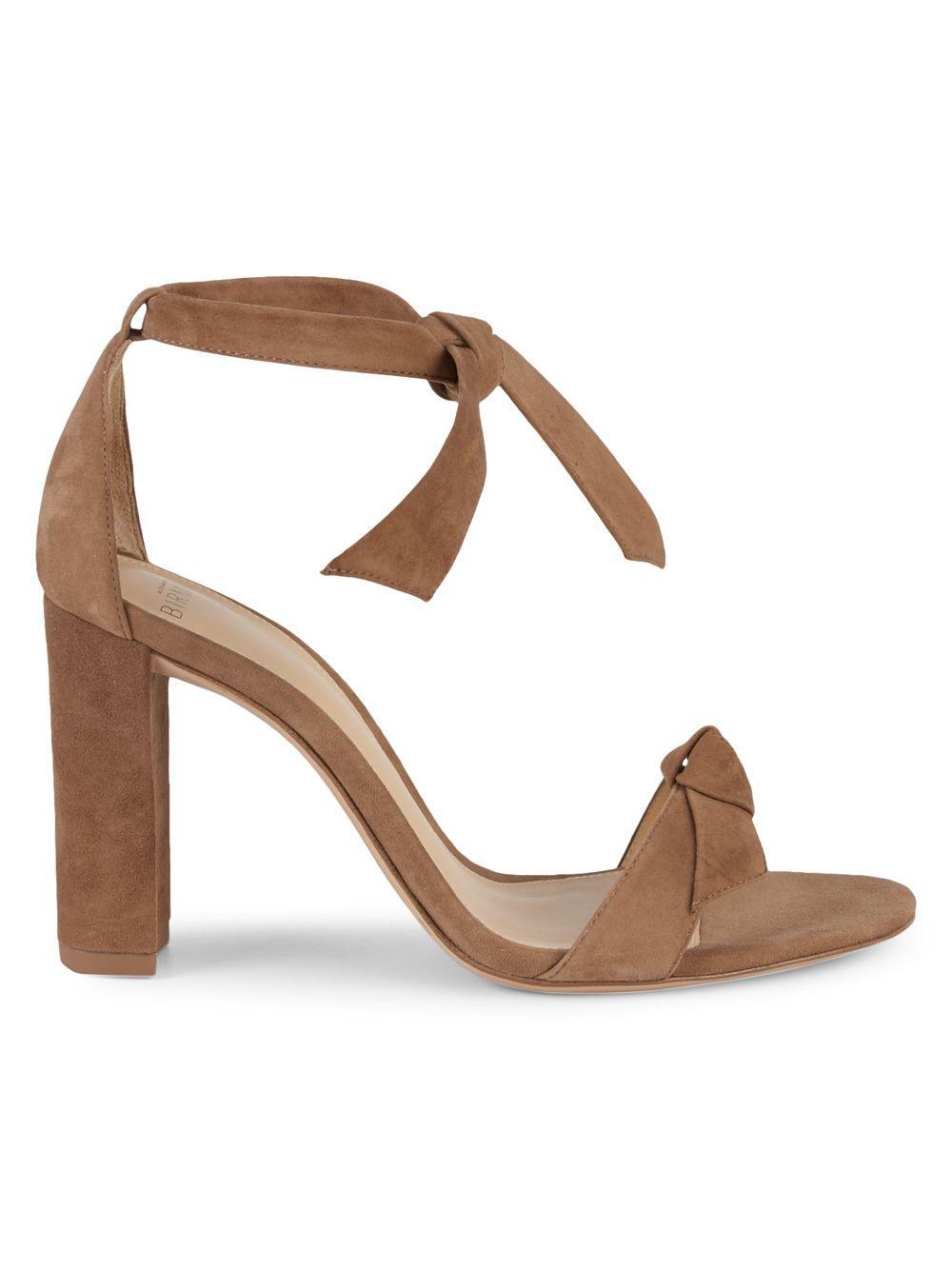 d58881abb2b Lyst - Alexandre Birman Clarita Suede Heeled Sandals in Natural