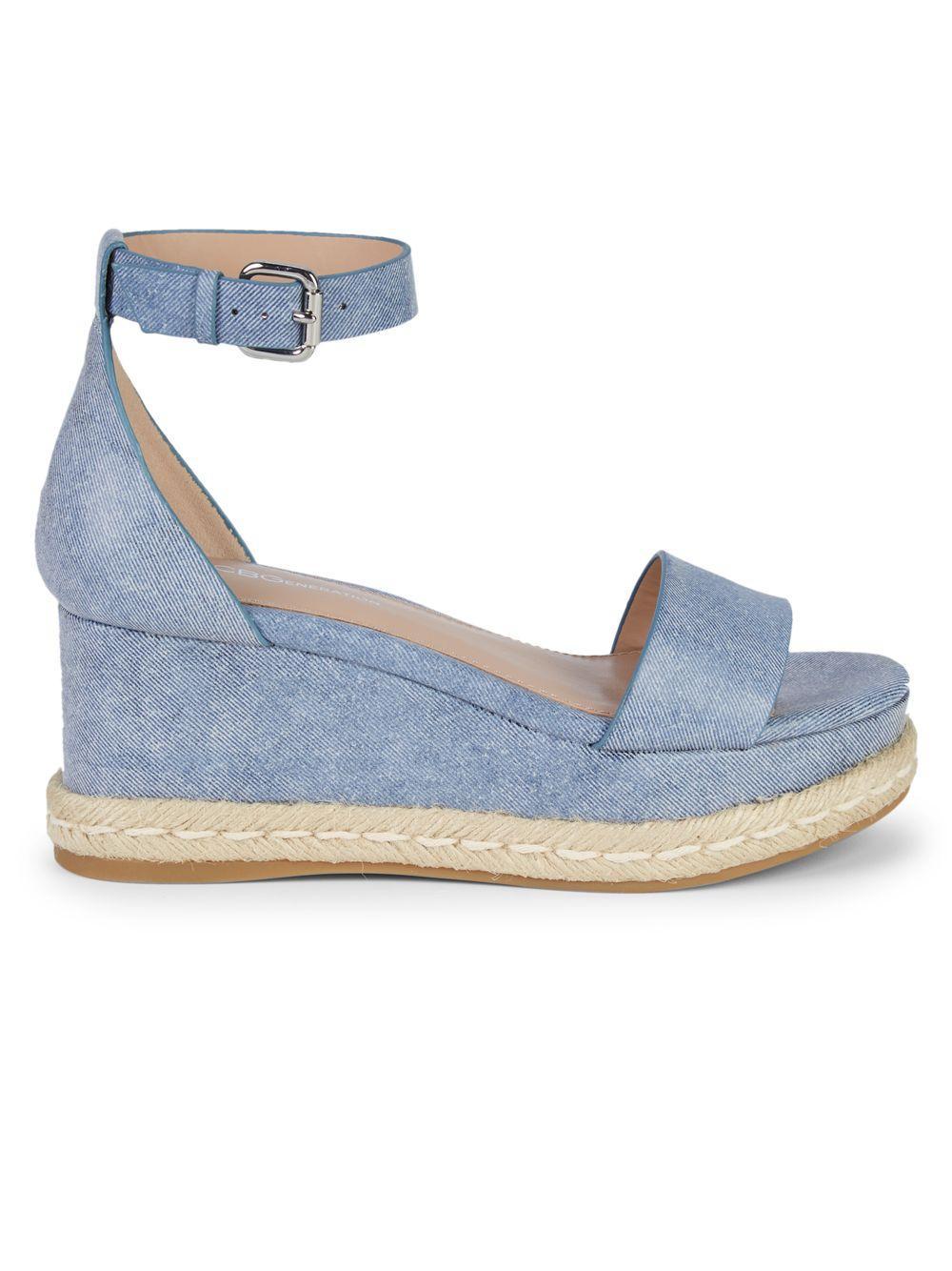 aa1ee23e250 BCBGeneration Addie Espadrille Wedge Sandals in Blue - Save 17% - Lyst