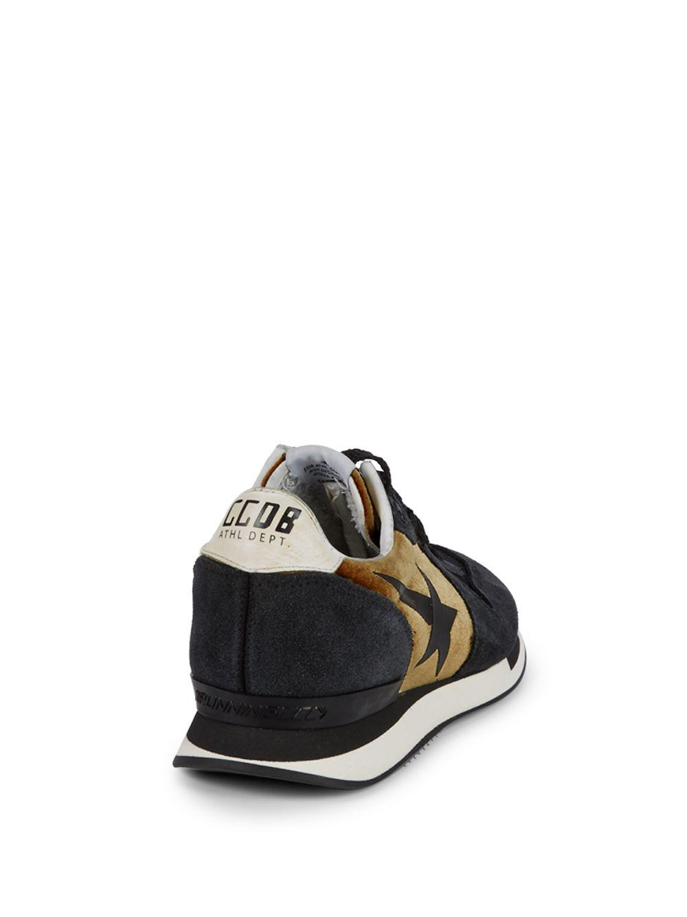 527ca67209a8a Lyst - Golden Goose Deluxe Brand Trainer Logo Sneakers in Black for Men