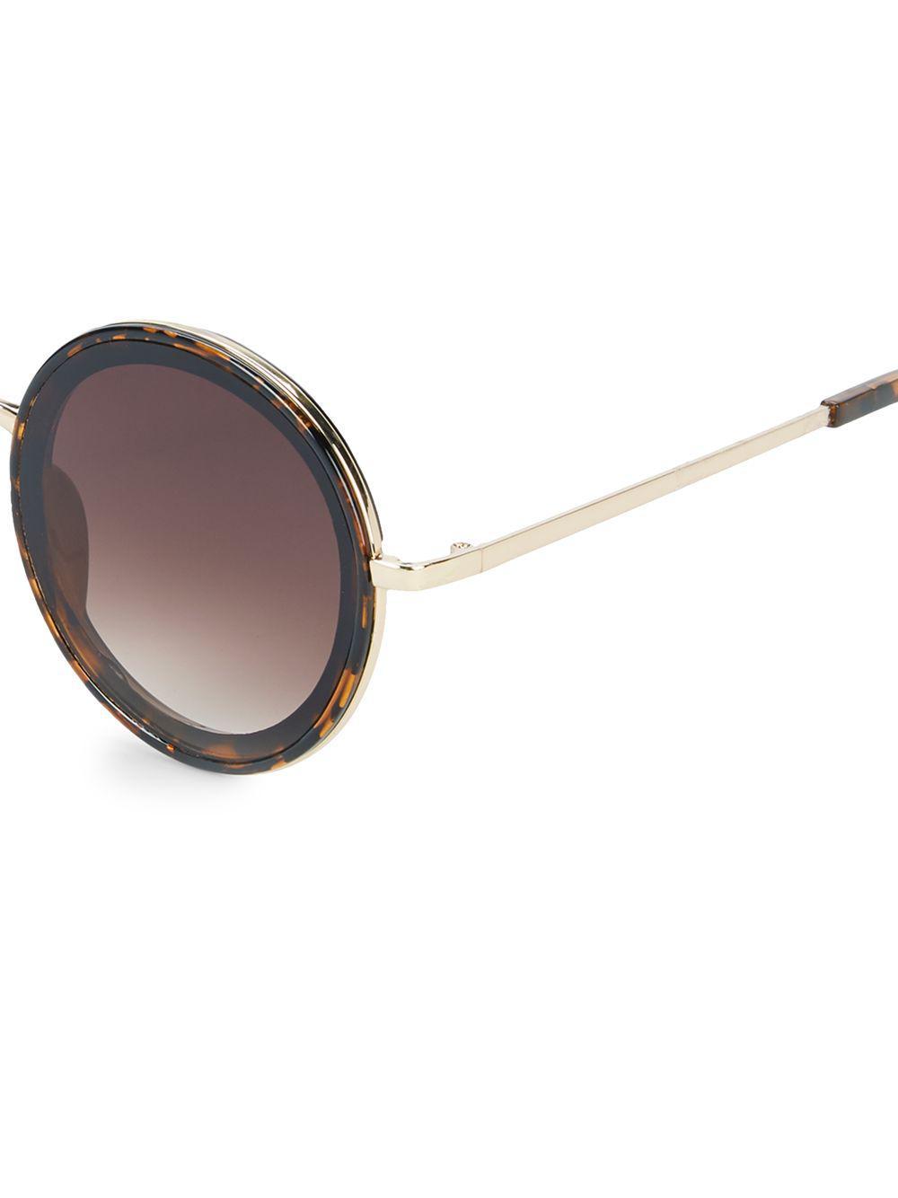 d6c1e49362 Fantaseyes - Metallic 57mm Round Sunglasses - Lyst. View fullscreen