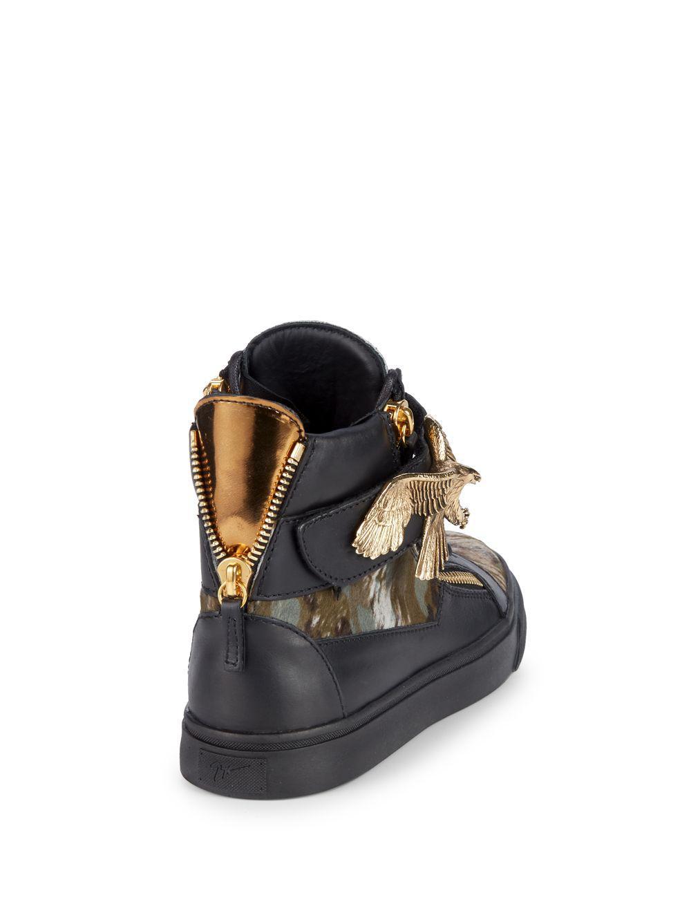 52483110c5810 Giuseppe Zanotti Camo Print High-top Sneakers in Black for Men - Lyst
