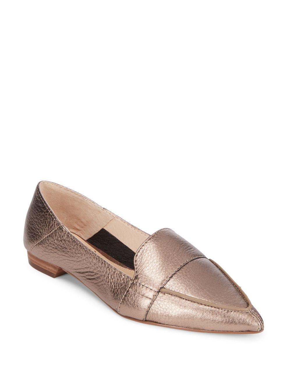 64a4948da3f Vince Camuto Maita Casual Leather Flats in Metallic - Save 6% - Lyst