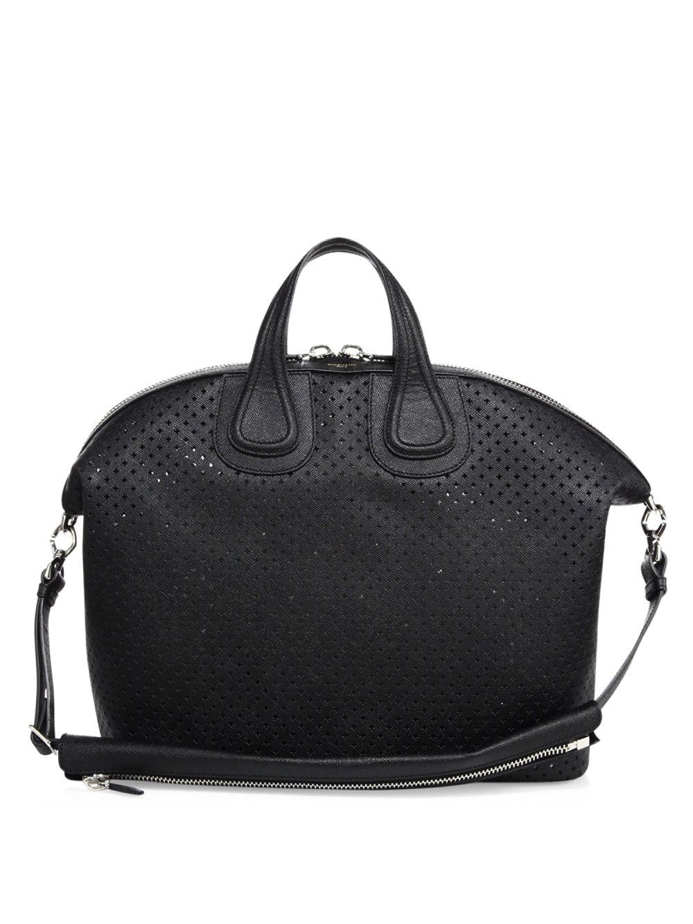 4e77db7c9a65 Givenchy Nightingale Perforated Leather Bag in Black for Men - Lyst
