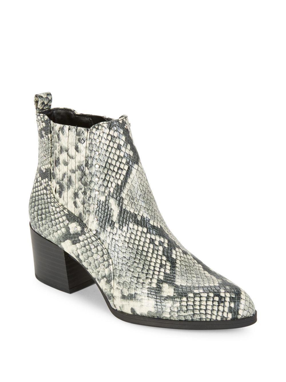 313280a5f7dc Circus by Sam Edelman Snakeskin-embossed Booties - Lyst