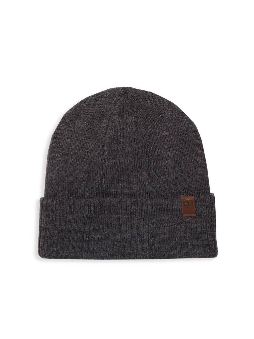 Timberland Knit Logo Beanie in Gray for Men - Lyst 2b24921005ea