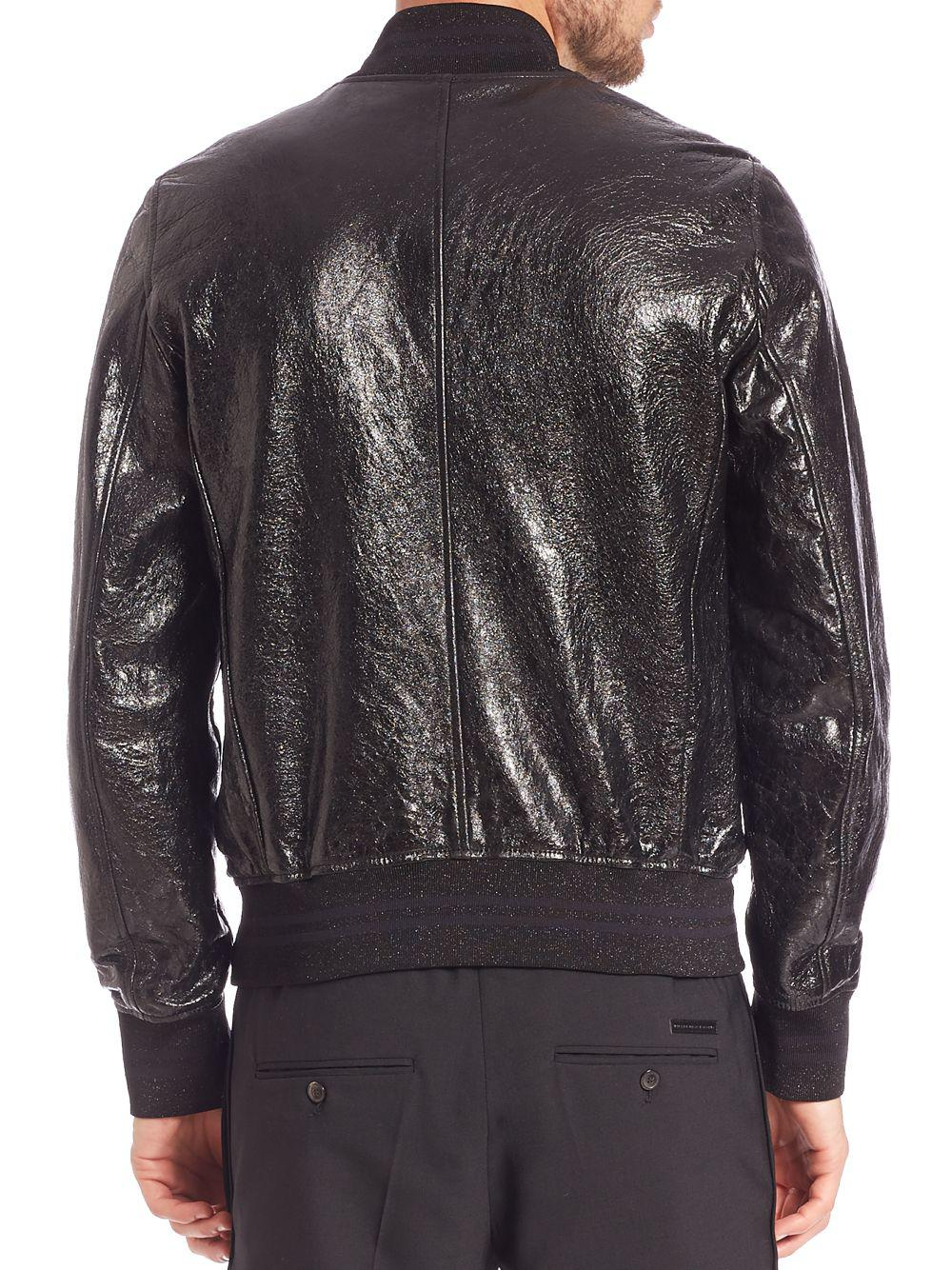 Lyst - Diesel Black Gold Larbirbo Cracked Lambskin Leather ...