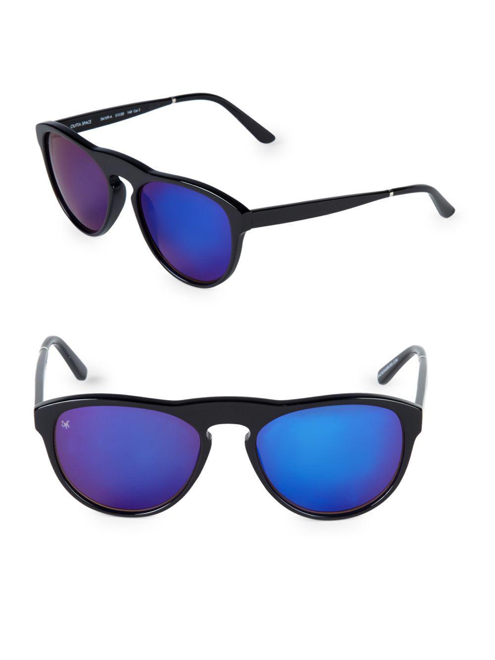 1262b44d28 Lyst - Smoke X Mirrors Outta Space 51mm Cat-eye Sunglasses in Blue ...