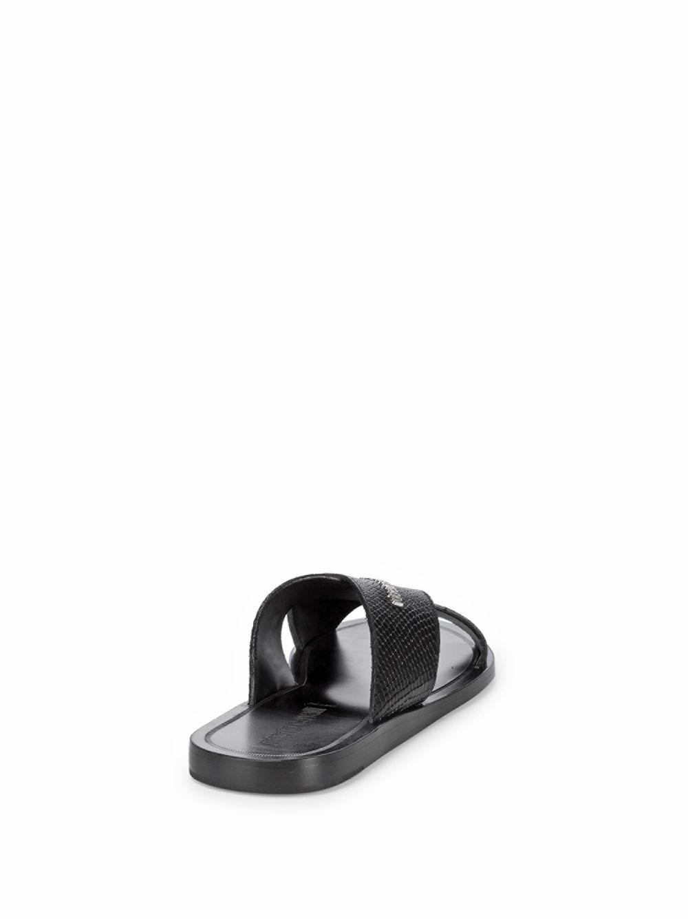 1ce685dcd8 Lyst - Roberto Cavalli Cross Band Leather Sandals in Black for Men - Save  65%