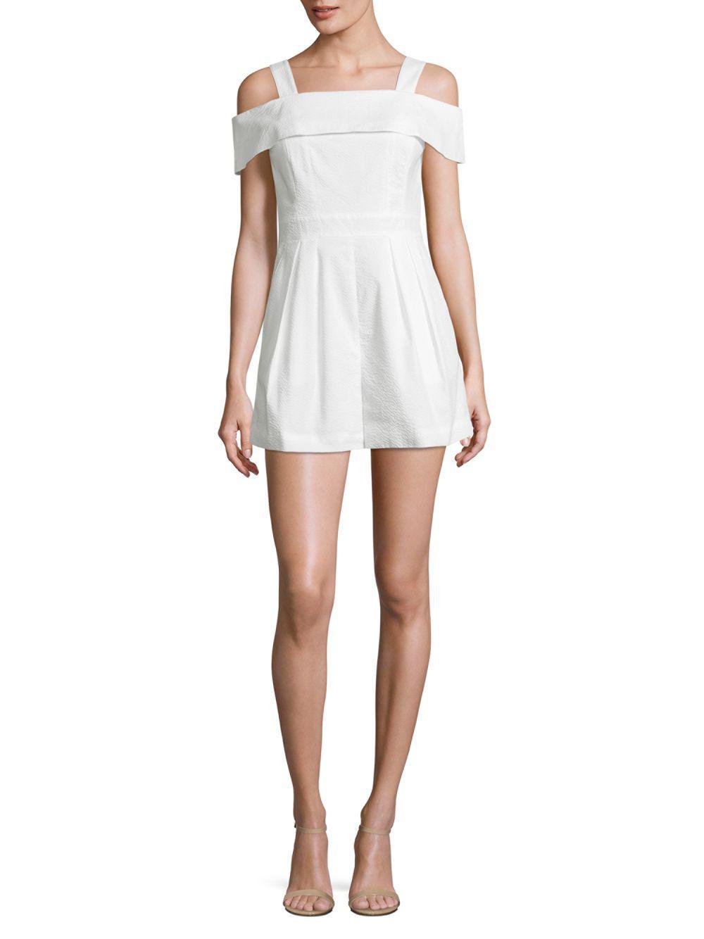 f6ecbd0a794b Tibi - White Seersucker Jumpsuit - Lyst. View fullscreen