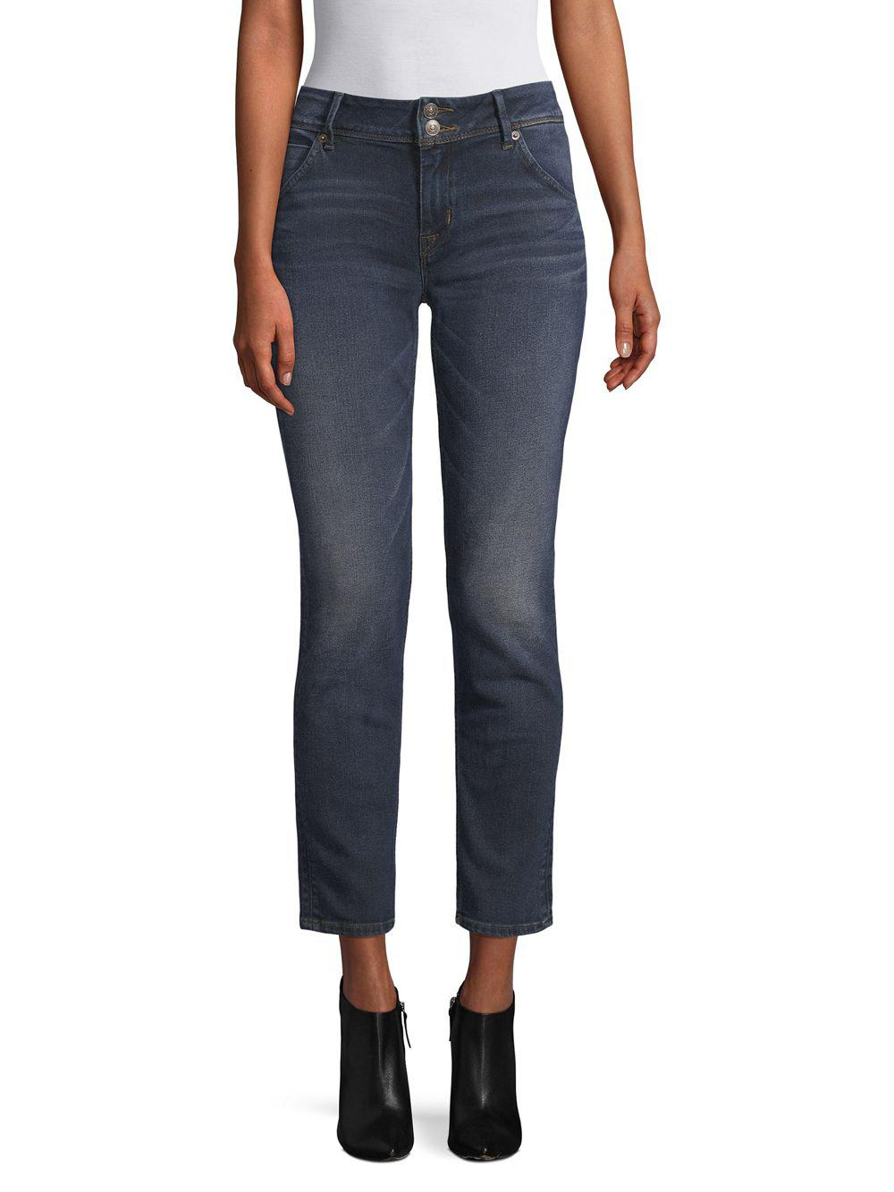 422552a0d16 Hudson Jeans Collin Cropped Skinny Jeans in Blue - Lyst