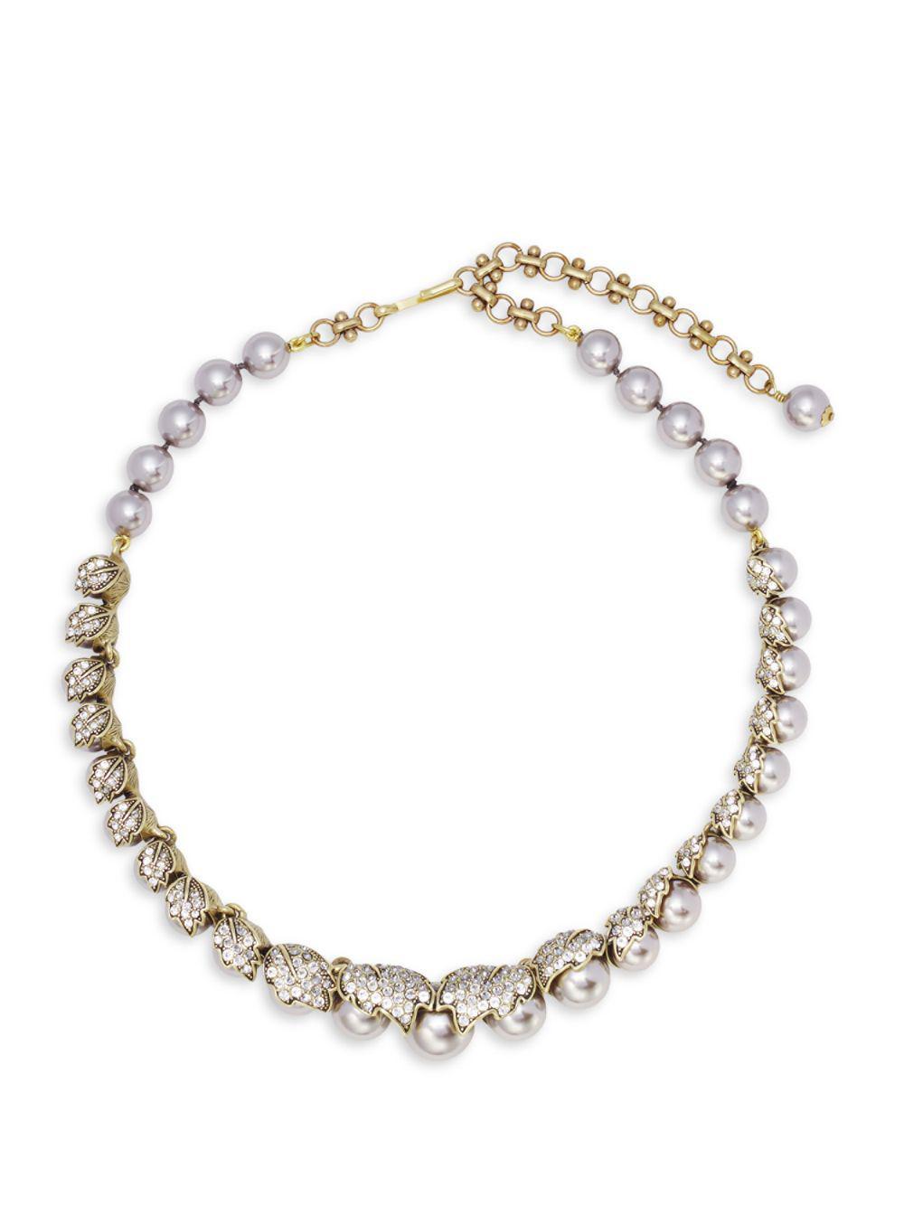 8fec6a65e9811 Lyst - Heidi Daus Faux Pearl And Swarovski Crystal Necklace in Metallic