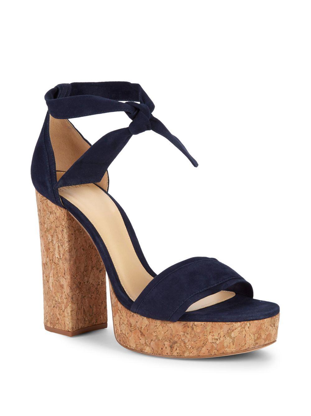 3d317ccf961 Lyst - Alexandre Birman Celine Cork Platform Sandals in Blue