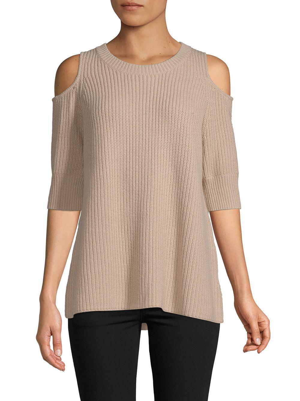 db58c65254a5 Lyst - Zoe Jordan Cashmere-blend Cold-shoulder Sweater in Natural