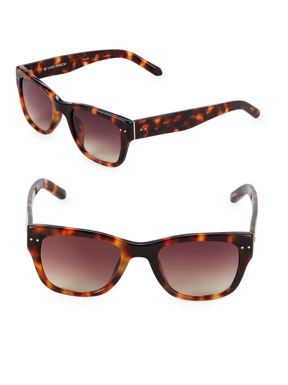 4ae2da0602 Linda Farrow - Brown 50mm Square Sunglasses - Lyst. View fullscreen