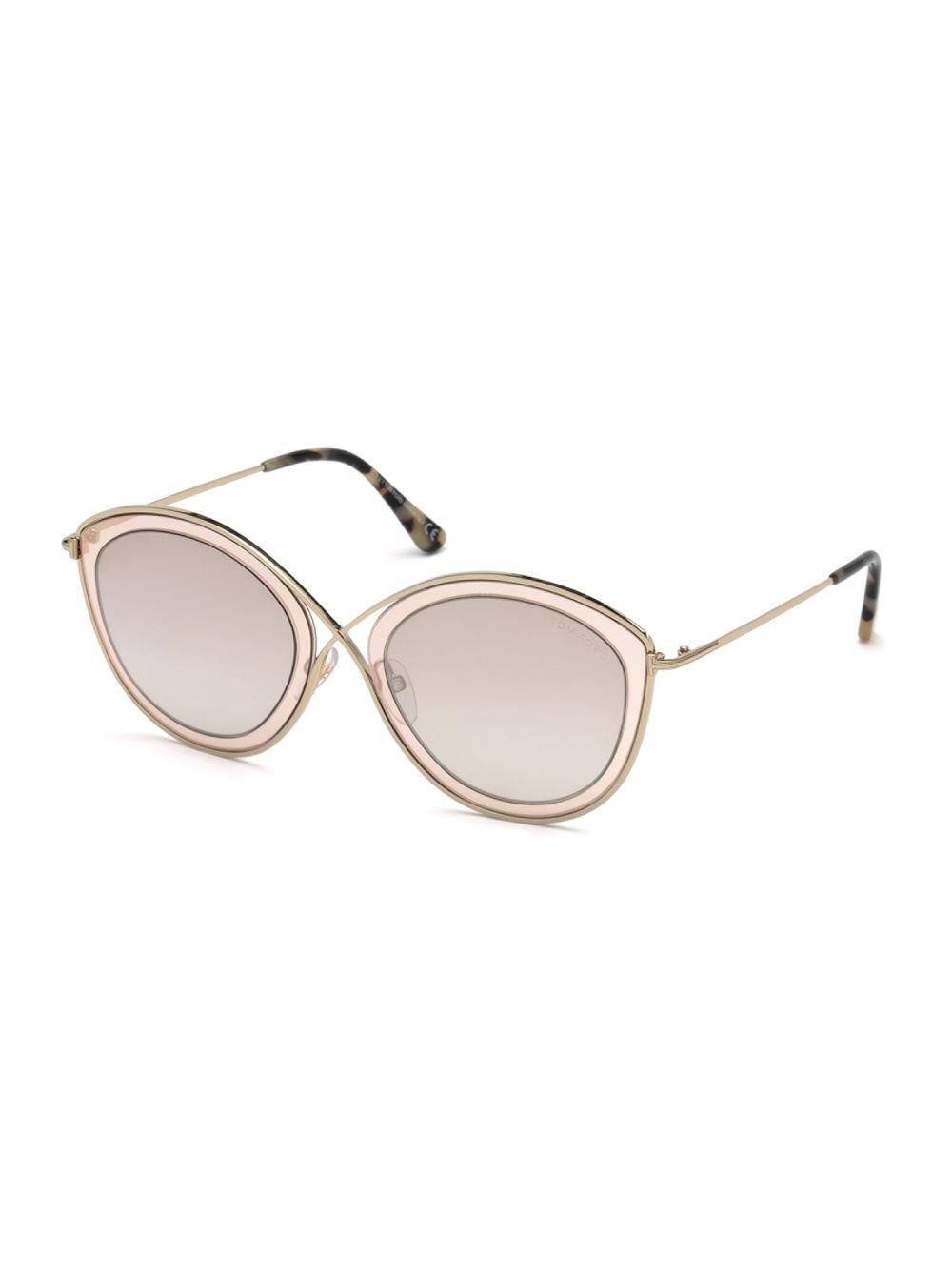 7b9c438090 Lyst - Tom Ford Sascha 55mm Butterfly Sunglasses in Brown