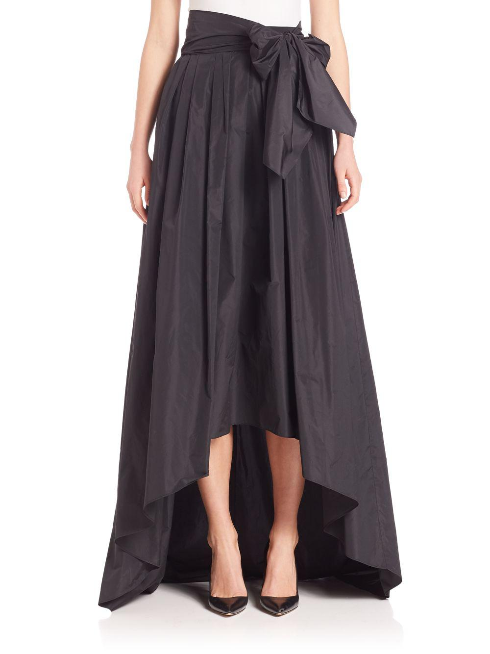 Lyst - Escada Hi-lo Taffeta Ball Gown Skirt in Black