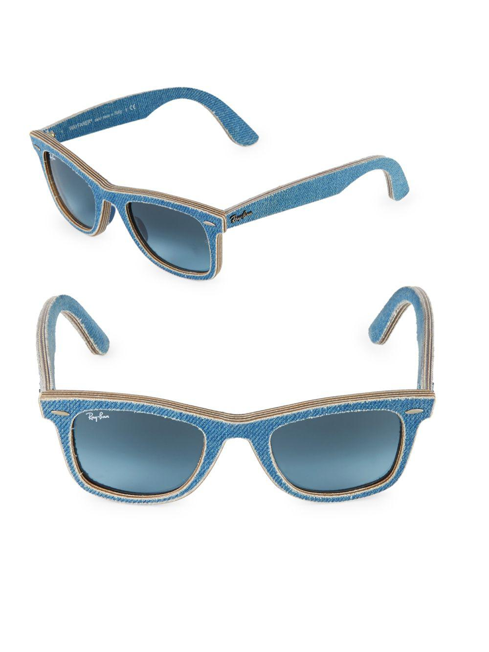 65c8f0c8c2 Lyst - Ray-Ban 50mm Classic Wayfarer Denim Sunglasses in Blue