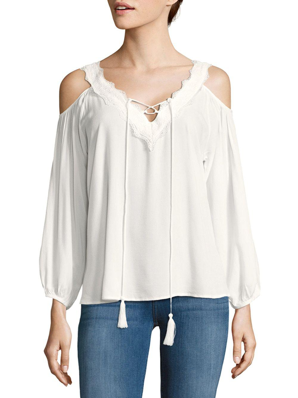 1aea1a351efaf Lyst - Cirana Cold-shoulder Crisscross Top in White