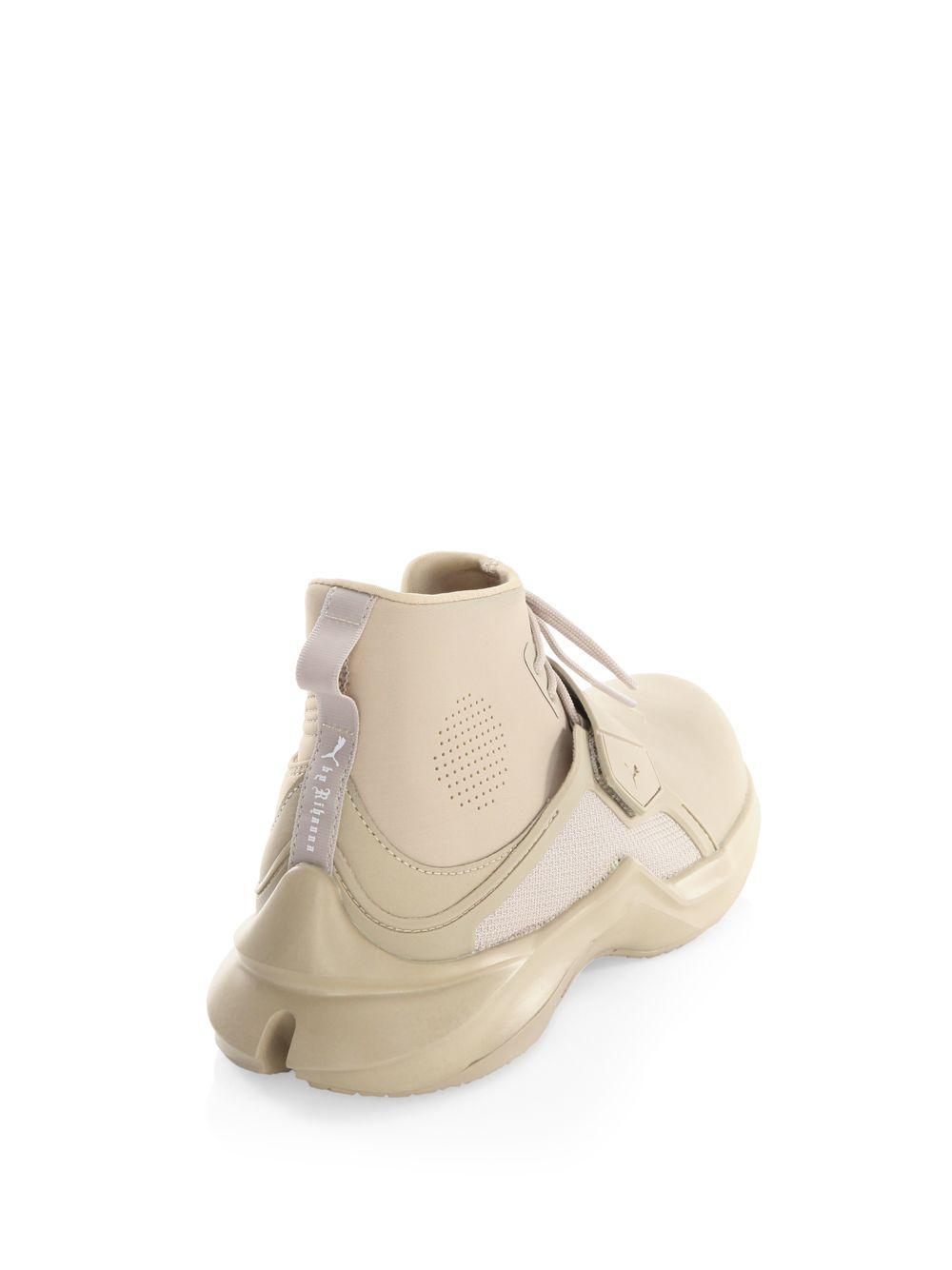 c89110e9bf7ca6 PUMA - Natural Fenty By Rihanna Hi-top Trainer Sneakers - Lyst. View  fullscreen