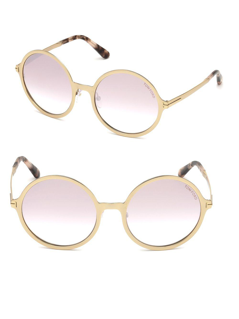 58af45a7cd700 Lyst - Tom Ford Ava Round Sunglasses in Purple