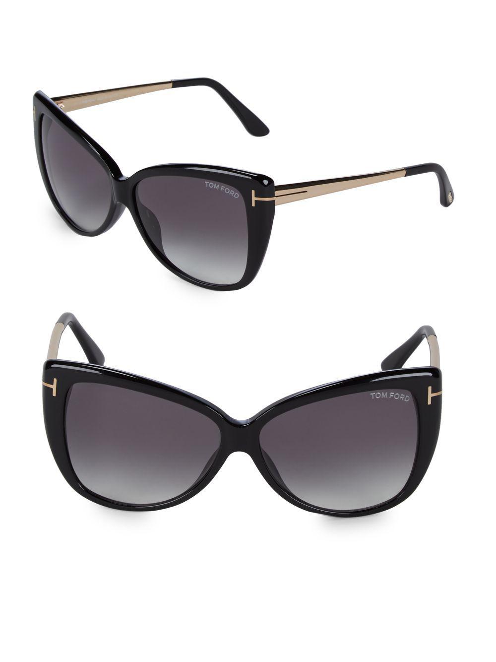 dd8eae5e6ac Tom Ford - Black 57mm Butterfly Sunglasses - Lyst. View fullscreen