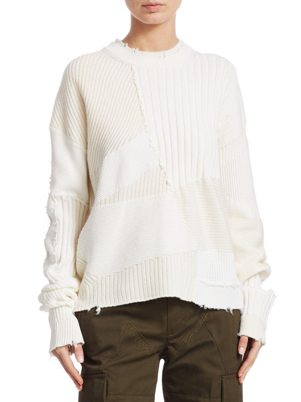f728aa1db88e24 Lyst - Helmut Lang Military Grunge Sweater in White - Save 40%