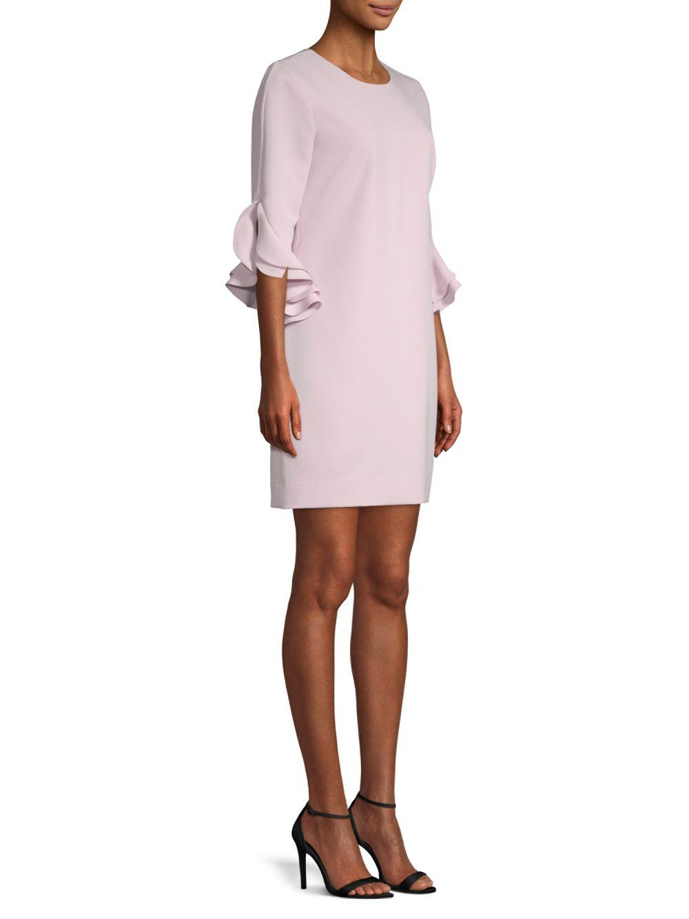 9c84b1a6be4 MILLY Fernanda Ruffle Dress in Pink - Save 24% - Lyst
