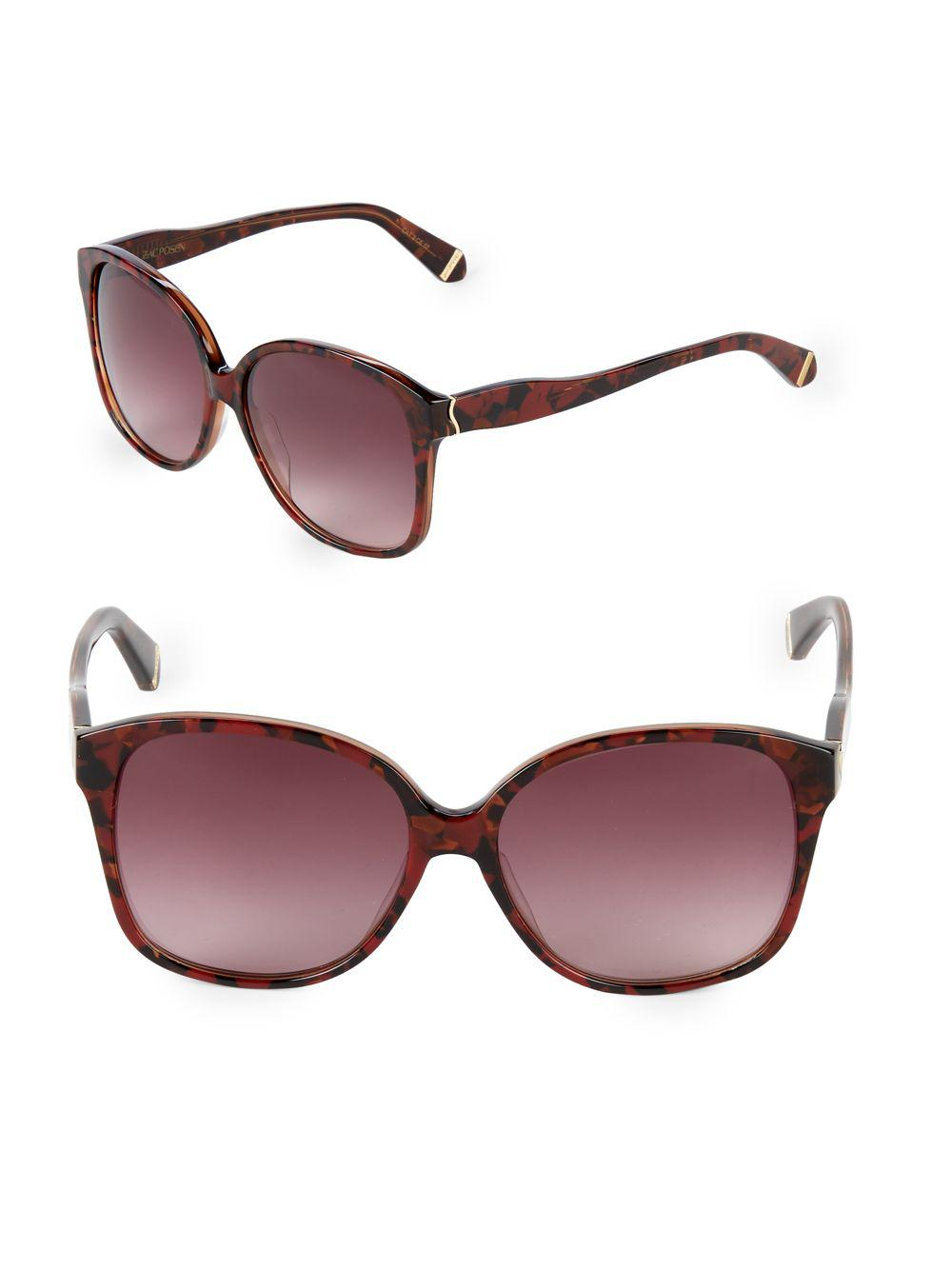 03f15af76f8 Lyst - Zac Posen Anita 58mm Square Sunglasses in Red