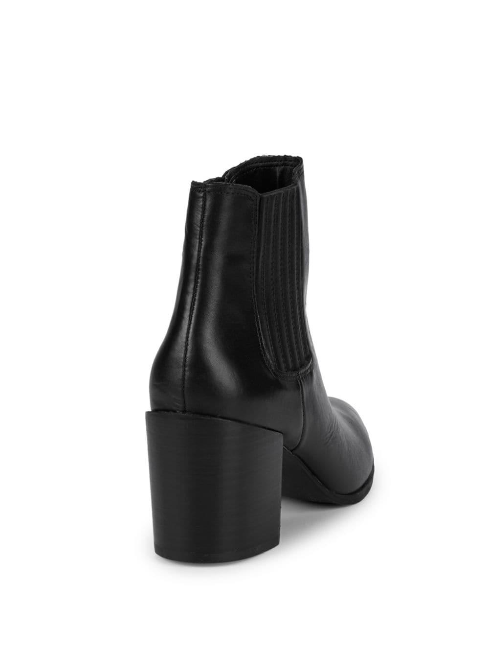 07cbc993010 Lyst - Steve Madden Jain Pointed-toe Leather Booties in Black