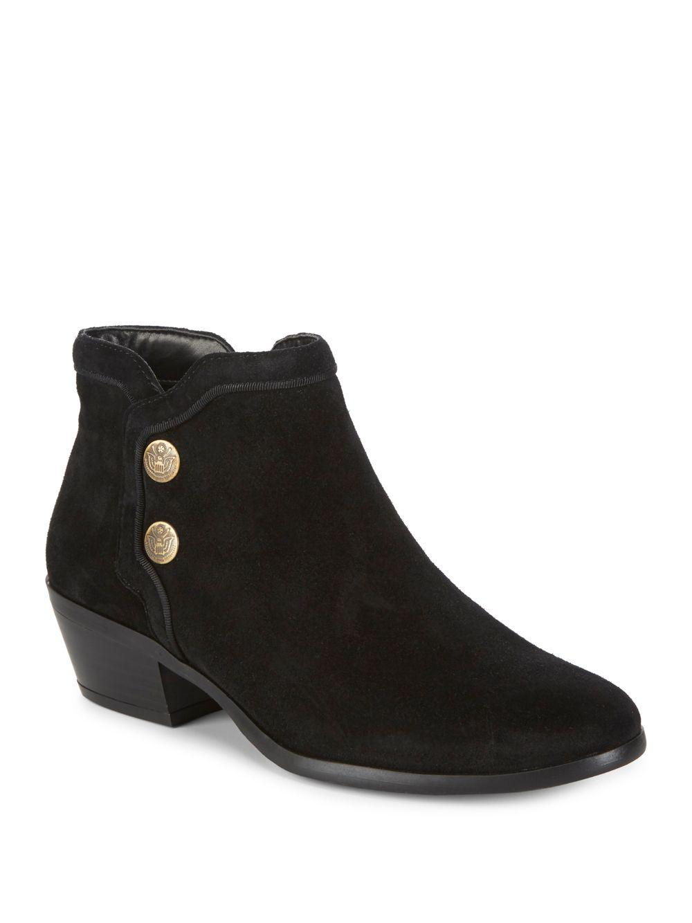 c7e5d2fdf Lyst - Sam Edelman Pacer Suede Booties in Black - Save 19%