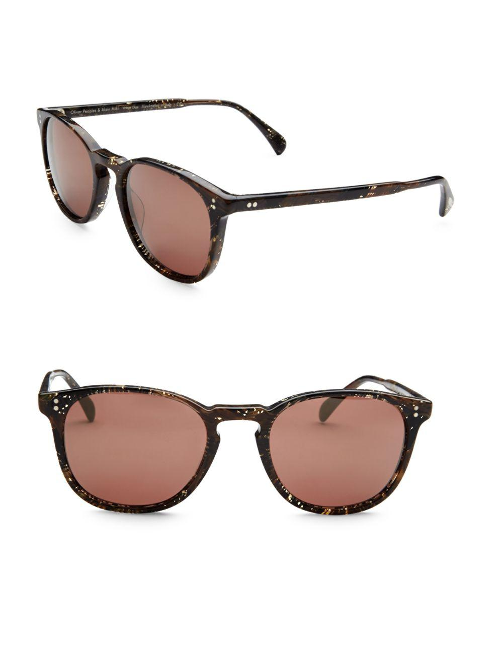 f245a136f67 Lyst - Oliver Peoples Finley Esq. 47mm Square Sunglasses in Brown ...