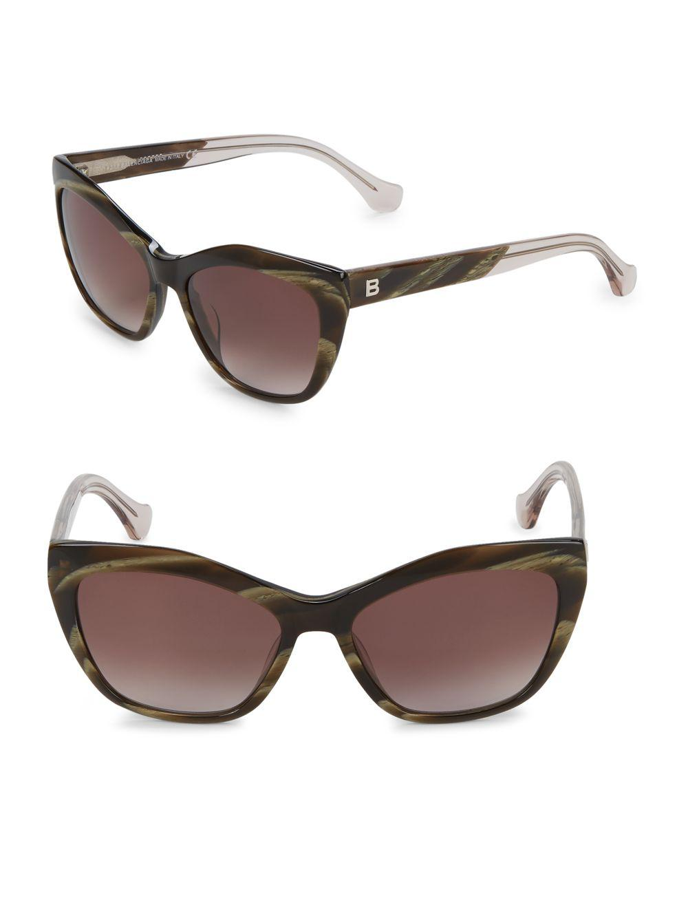 a4812b65253 Lyst - Balenciaga 56mm Square Sunglasses in Brown