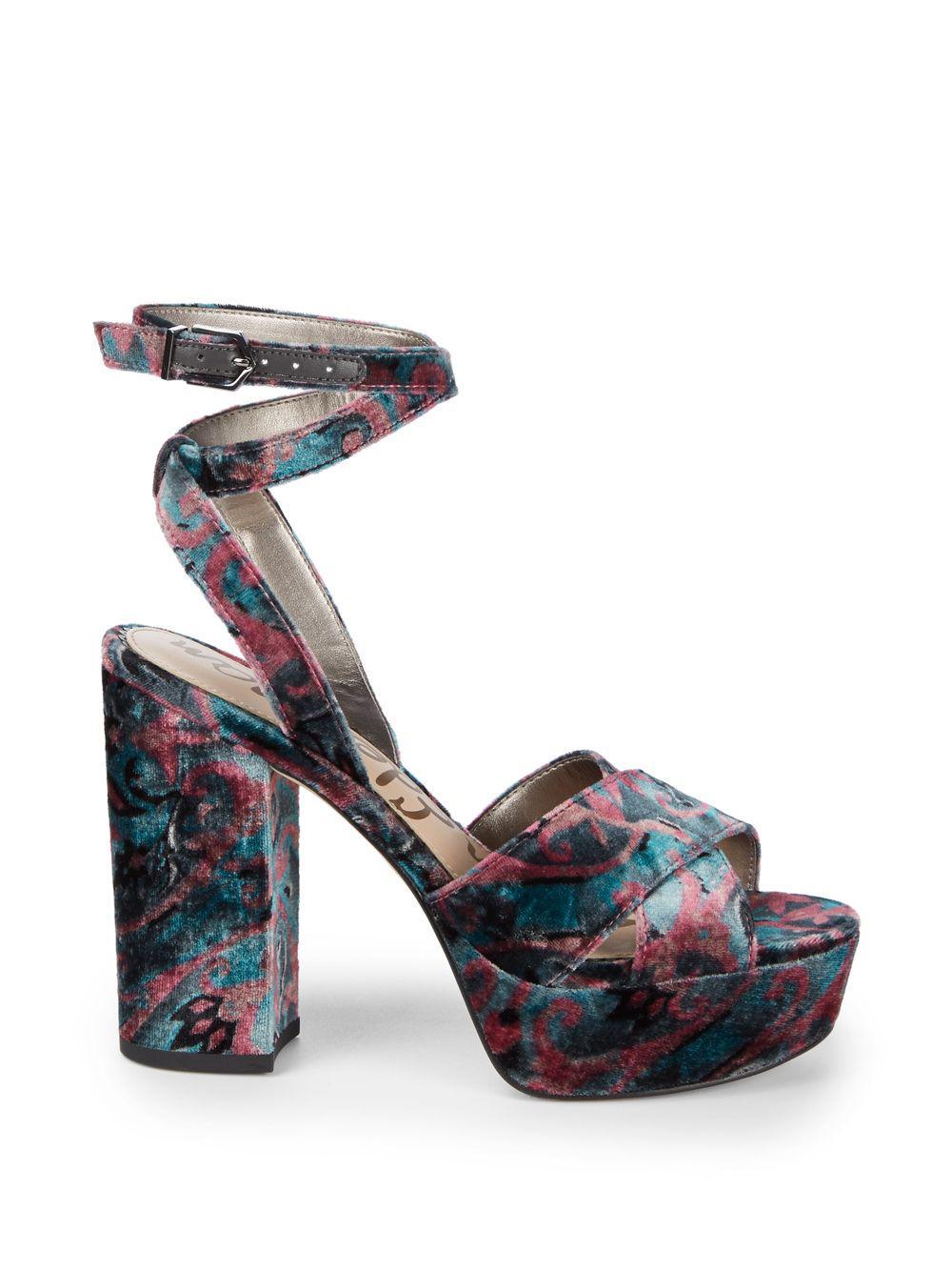 853835b2fcca Sam Edelman Masie Platform Sandals in Blue - Save 45.0% - Lyst