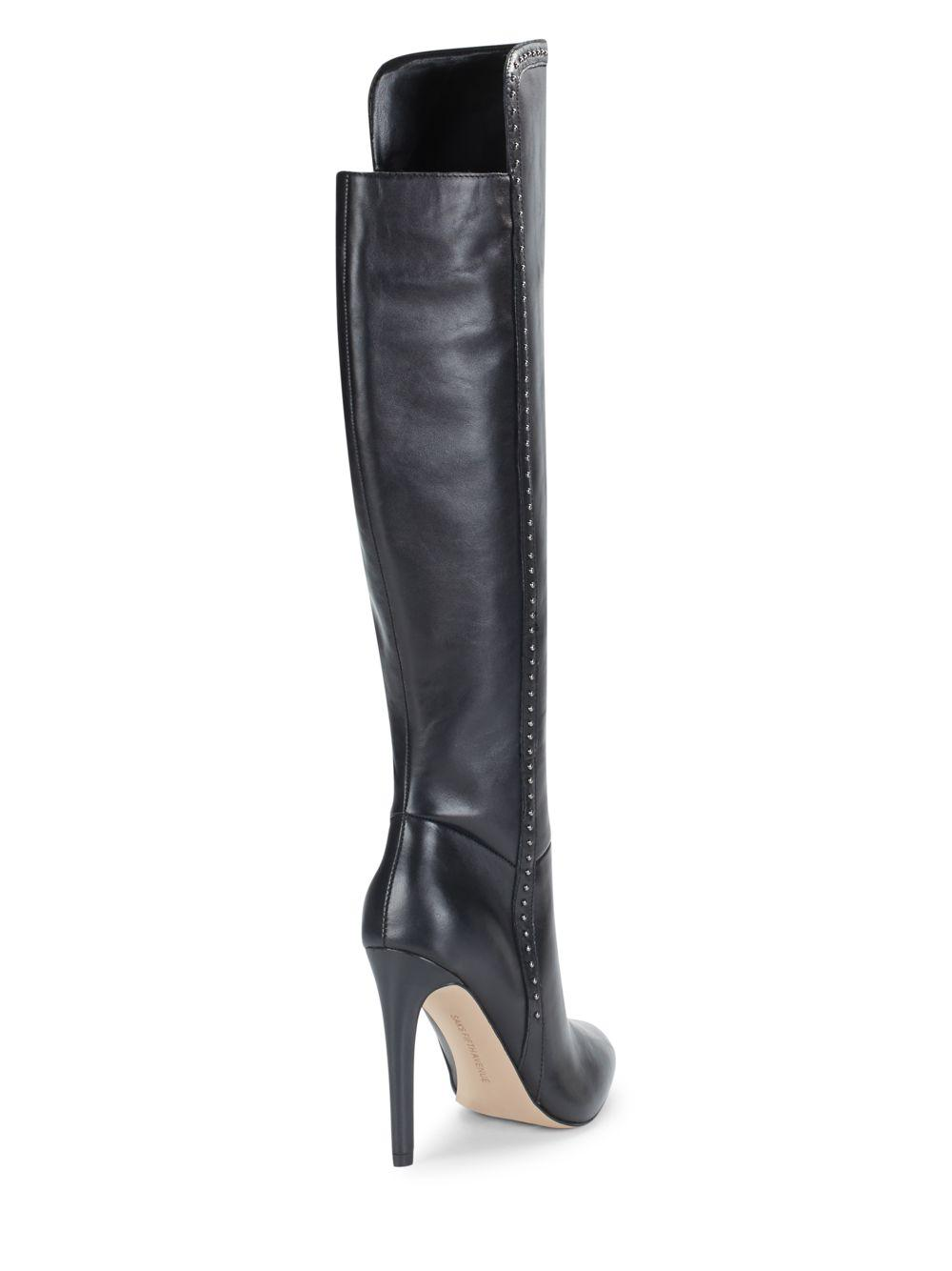 Saks Fifth Avenue Round-Toe Knee-High Boots best wholesale online nicekicks quality from china cheap clearance big discount PXuurH