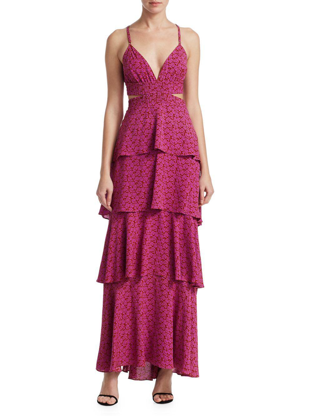 4d606b51c0d A.L.C. - Multicolor Titus Printed Ruffle Maxi Dress - Lyst. View fullscreen