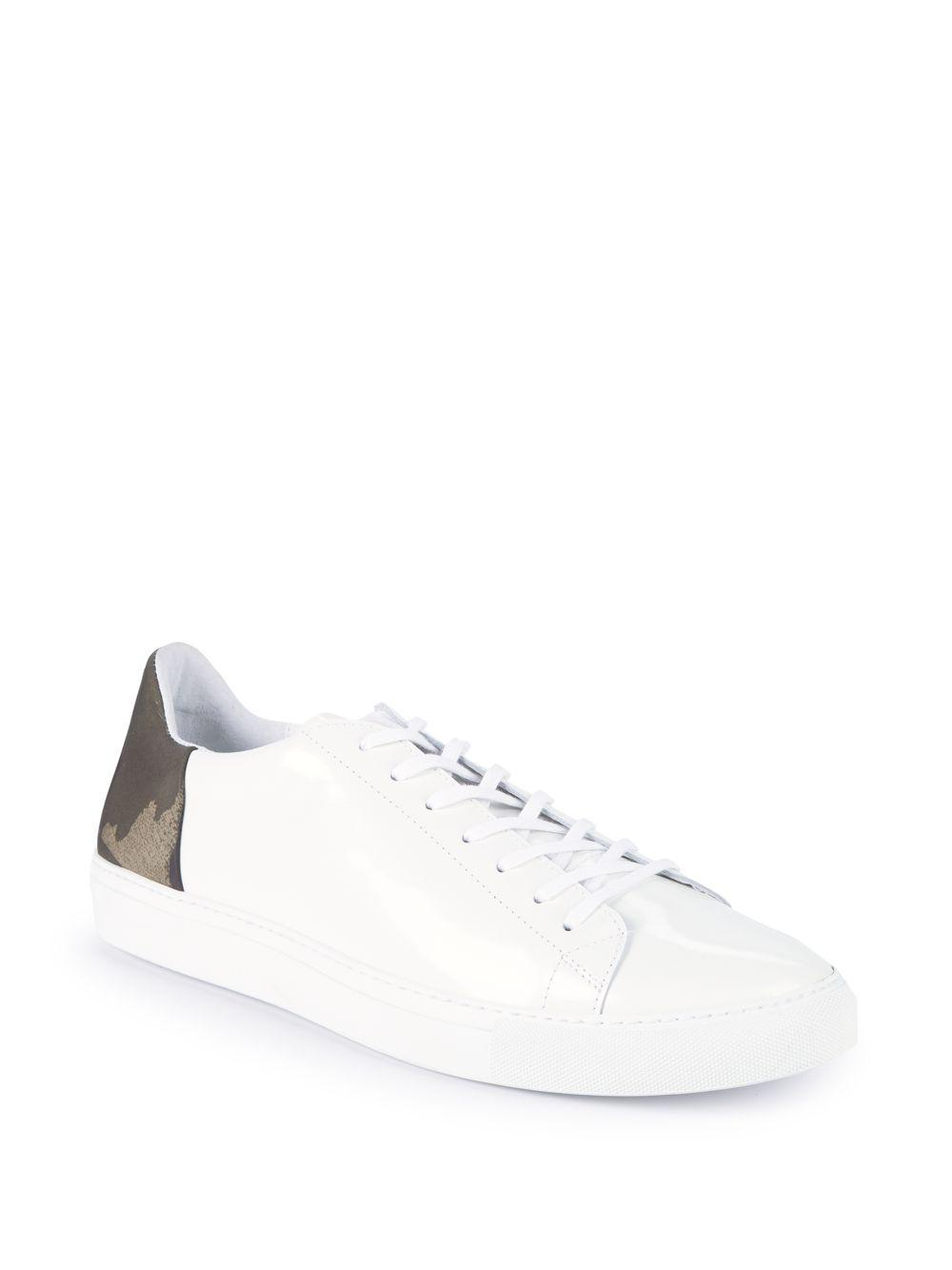 e4ed0432c7e91 Belstaff - White Camouflage Low-top Leather Sneakers for Men - Lyst. View  fullscreen