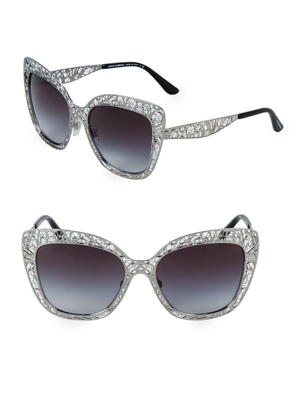 11d9ff7776e Lyst - Dolce   Gabbana Lace Lattice 56mm Square Sunglasses