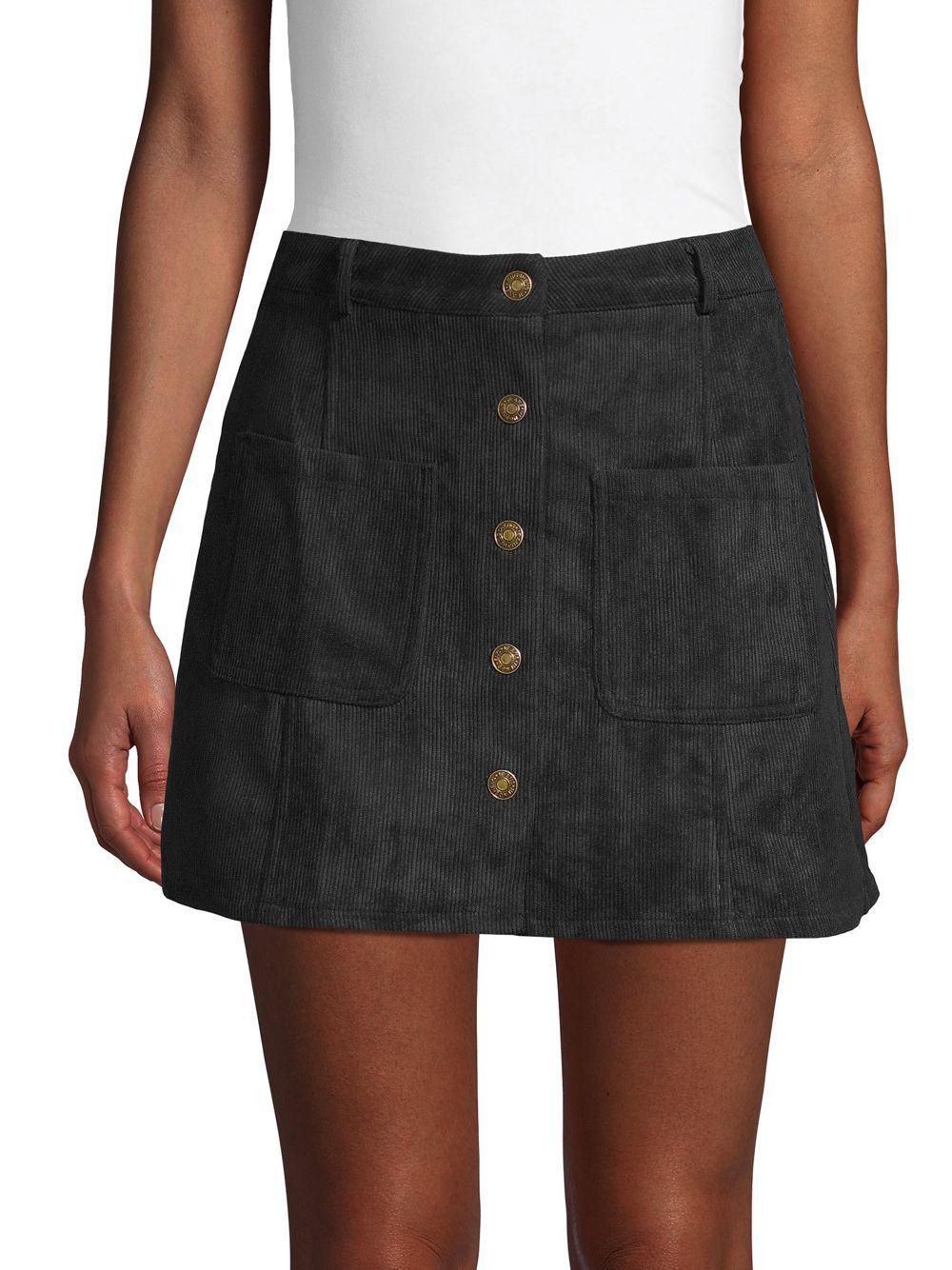 80263520b Haute Rogue Ashley Corduroy Mini Skirt in Black - Lyst