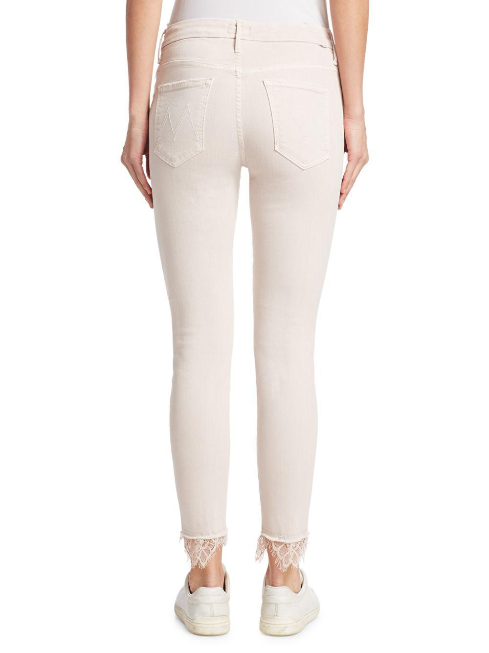 d20ac350586e0 Mother The Swooner Dagger Ankle Lace Jeans - Save 4.285714285714292% - Lyst