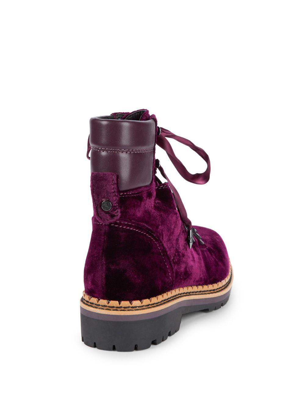 0783a06adb5fae Lyst - Sam Edelman Browan Velvet Combat Boots