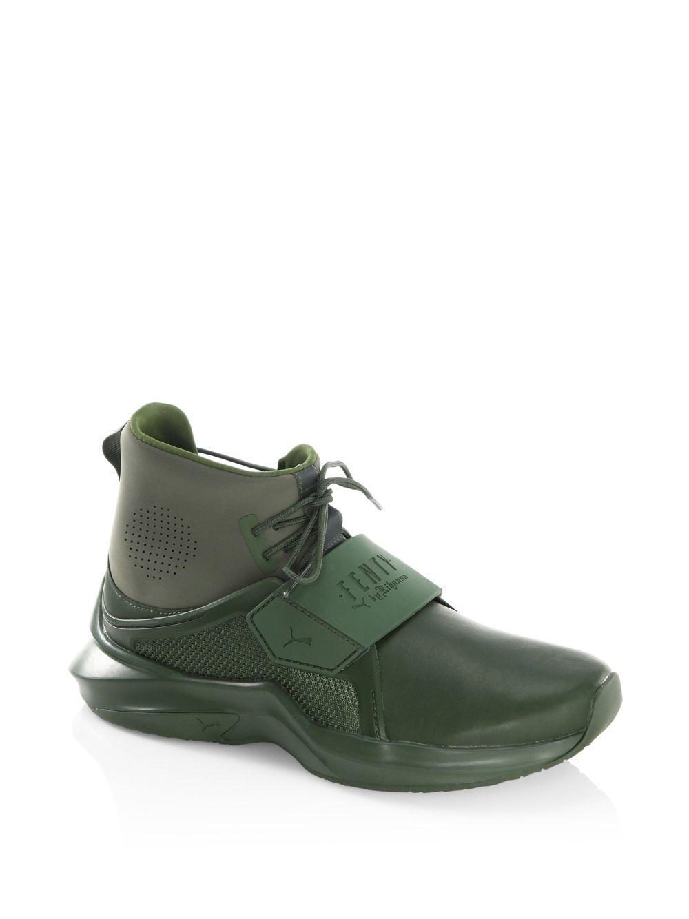 059750ff92b226 Lyst - PUMA Fenty By Rihanna Hi-top Trainer Sneakers in Green for Men