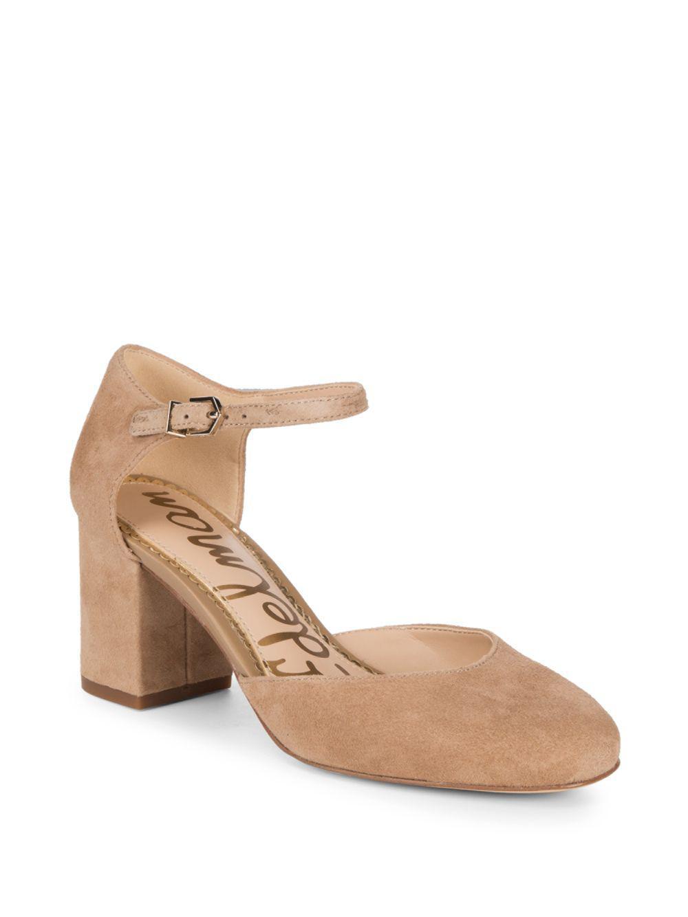3556e6643 Lyst - Sam Edelman Clover Ankle-strap Pumps in Natural