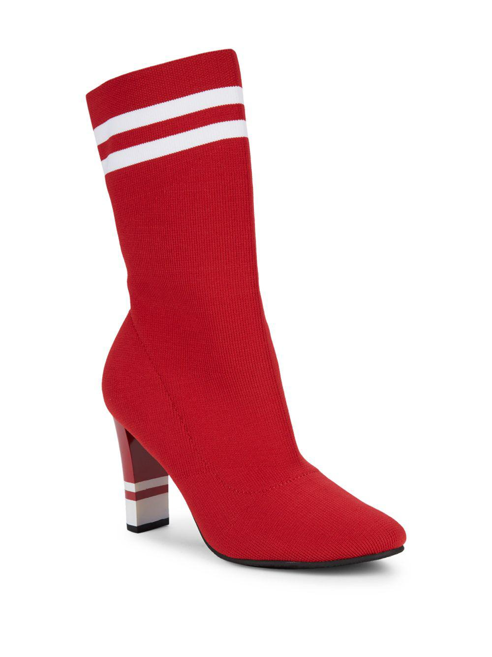 4d7db14239d1c Circus By Sam Edelman Joy Stretch Fabric Booties in Red - Lyst