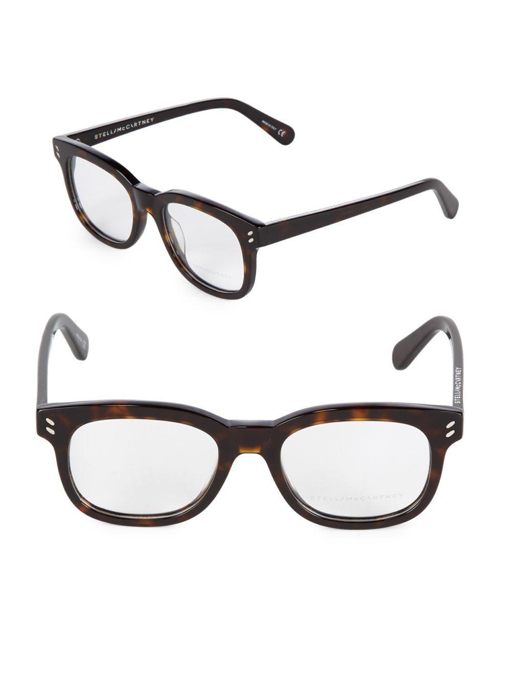 ba05f5dce8 Stella McCartney 50mm Tortoise Shell Optical Glasses in Brown - Lyst