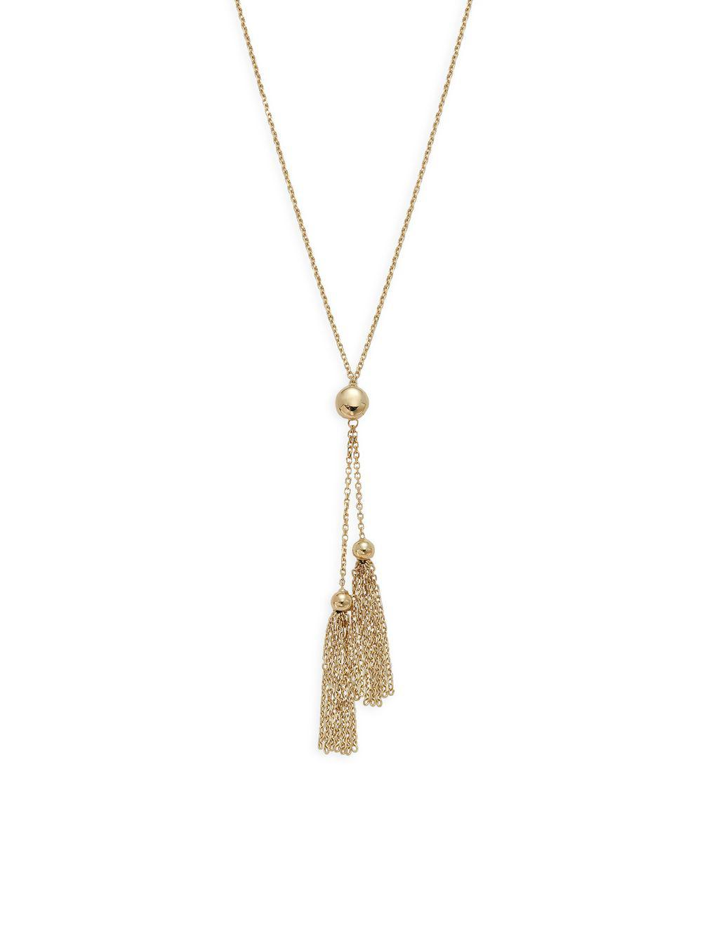 Lyst - Saks Fifth Avenue 14k Yellow Gold Tassel Necklace in