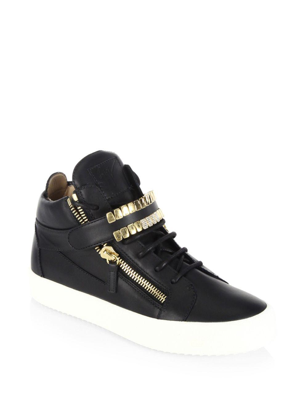 1c16925454f Giuseppe Zanotti Leather Sneakers in Black for Men - Save 13% - Lyst